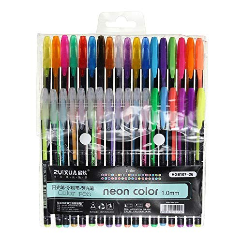 Shopaholic Glitter Gel Pen Chalk Maker Pen Highlighters Neon Metal Pens for Scrapbook and Craft Card Making Adult Coloring Books Craft Doodling (Pack of 24) (B07JLLTLDF) Amazon Price History, Amazon Price Tracker