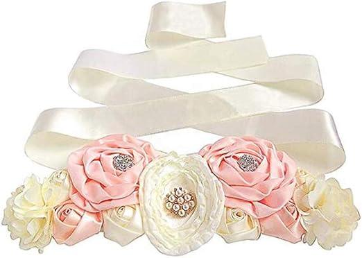 wedding sash flower Belt Maternity Sash Blush  ivory Sash maternity sash