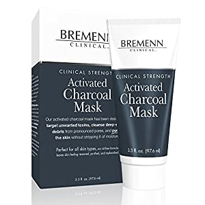 BREMENN CLINICAL Activated Charcoal Mask - A Potent Cleansing, Detoxifying, and Clarifying Facial Mask (3.3 oz.)