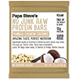 Papa Steve's No Junk Raw Protein Bars- Vanilla Cashew Coconut, 2.2 Oz, 10 Count