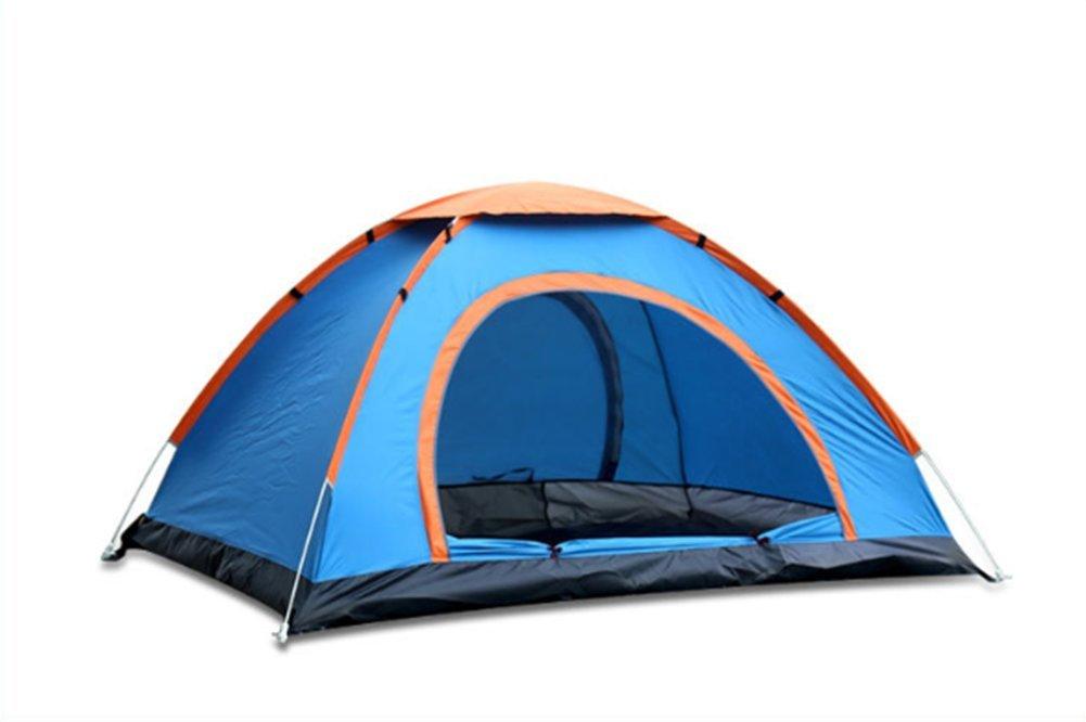 OOBY Pop up Zelt, Zweitürer, 2-4 Personen Camping Instant Zelt Für Familien Camping Wandern Traving,Blau