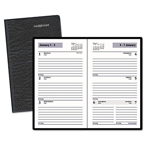 DayMinder Weekly Pocket Planner, 3 1/2 x 6 3/16, Black, (Dayminder Daily)
