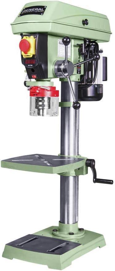 General International 75-010 M1 Bench-Top Drill Press, 12 , Green