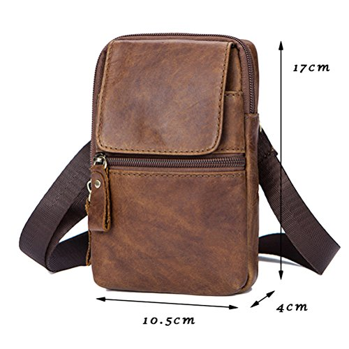 Shoulder Black hombro Christmas Crossbody Mans Gifts Briefcase Adjustable Father Bag Mini Lightweight Mens de Zhhlaixing Messenger Travel Bolsa Leather nzqRaOUx4A