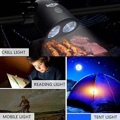 Barbecue Grill Light, RVZHI 360°Rotation Grill Lights for BBQ With 10 Super Bright LED Lights- Durable,Heat Resistant,Waterproof,100lm LED BBQ Light for Gas/Charcoal/Electric Grill-Battery Not Include by RVZHI (Image #5)