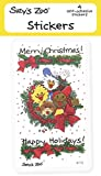 Suzy's Zoo Stickers 4-pack,Merry Christmas! 10143
