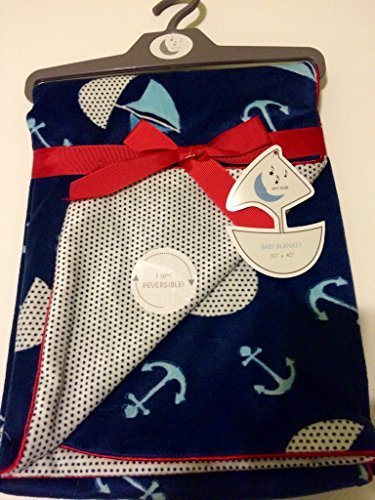Baby Blanket Sailing Reversable by Sweet Lullaby [並行輸入品]   B01AKZZS8I