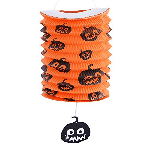Meiyiu Pumpkin Lantern Halloween Haunted House Decoration Bar Stretching Orange 1Lantern