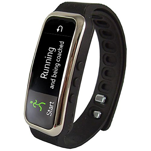 Super Sonic Inc Supersonic SC-61SWBK Bluetooth Smart Wristband Fitness Tracker