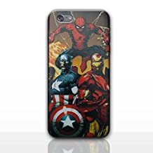 iPhone 5/5s 3D Marvel Silicone Phone Case / Gel Cover for Apple iPhone 5s 5 SE / Screen Protector & Cloth / iCHOOSE / Group