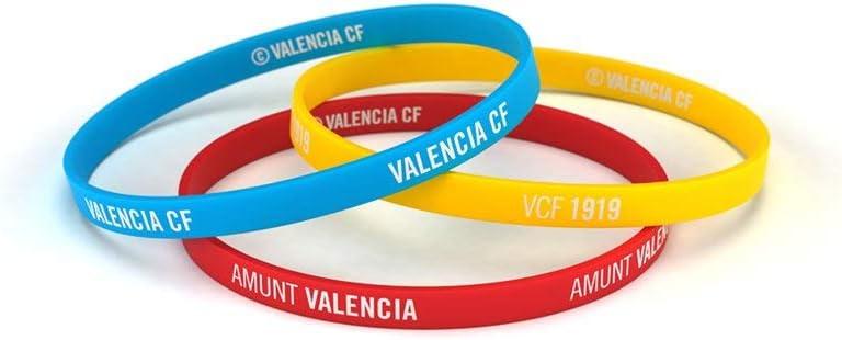 Valencia Club de Fútbol Pulsera Classic Tricolor Escudo Junior para Mujer y Niño | Pulsera Valencia de Silicona | Apoya al Valencia CF con un Producto Oficial | VCF: Amazon.es: Deportes y