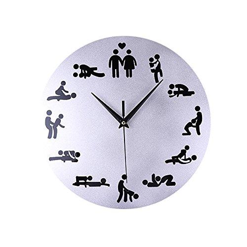 Kay Cowper Creative Fun Bedroom Mute Wall Clock Acrylic Decorative Mirror Wall Clock