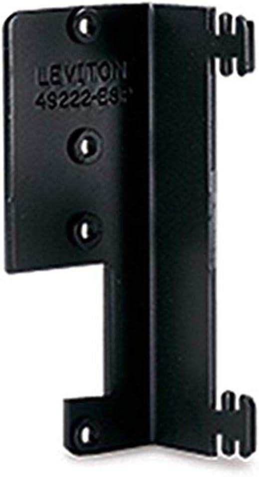 Leviton 49222-ESP QuickPort Modular Furniture Bracket, Black