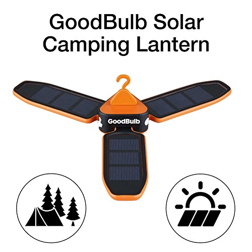GoodBulb Compact Solar Lantern - Folding Lantern - Camping Gear - Solar Lights - LED Rechargeable Light - 680 mAh Battery - Charge by USB by GoodBulb