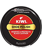 KIWI Black Shoe Polish and Shine, Use on Shoes, Boots, and Furniture, 1 Metal Tin, 70g