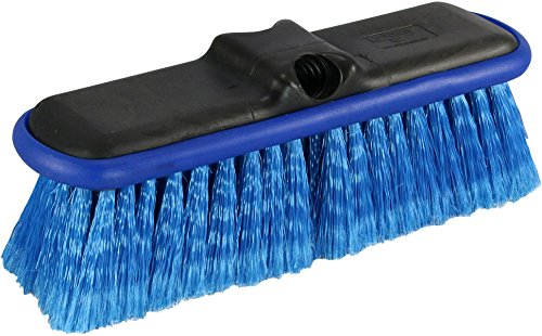 Soft-bristled window cleaning brush