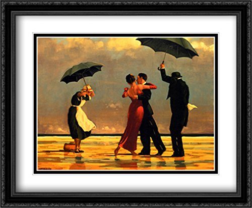- The Singing Butler 2x Matted 36x28 Large Black Ornate Framed Art Print by Jack Vettriano