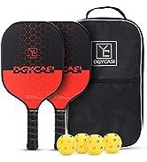 YC DGYCASI Pickleball Paddles, Pickleball Paddle Set of 2, Pickleball Racquet Lightweight Carbon ...