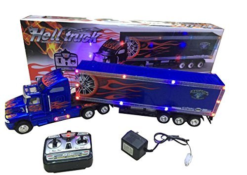 Big-Daddy Series Extra Large Super Duty Tractor Trailer with Light & Music Colors May Very Black & ()