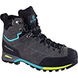 SCARPA Women's Zodiac Plus GTX Wmn Hiking Backpacking Boot, Shark/Maldive, 41 EU/9 M US