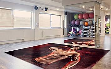 Pvc Fußboden Teppich ~ Ruvitex d decor d belag dekor boden vinyl pvc bodenbelag gym