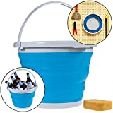 Simply Genius 10L Foldable Silicone Collapsible Bucket 2.6 Gallon Clean Camp Car