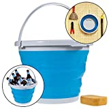 Simply Genius 10L Foldable Silicone Collapsible Bucket 2.6 Gallon Clean Camping Car Beach