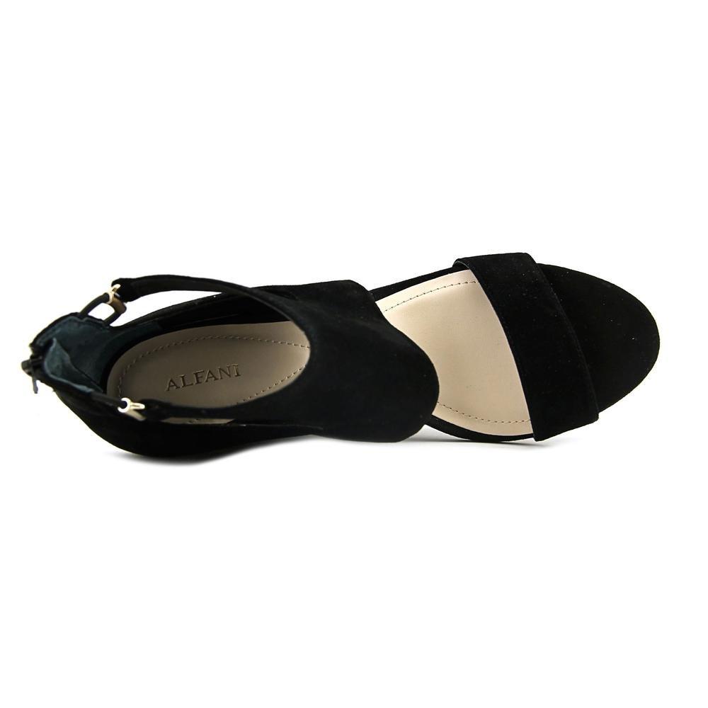 Alfani Frauen Giah Zeh Offener Zeh Giah Leger Leder Platform Sandalen schwarz 9f0623