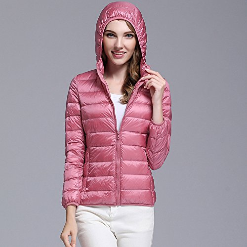 Ake Pink Blousons Hooded Puffer Femme Packable Down Winter Outwear qT4HSqnra
