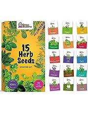 Set kruidenzaden van Grow Buddha - Kweek eenvoudig 15 variëteiten van uw eigen verse kruiden met onze kruidenzadenmix - Beginnersvriendelijke set tuinzaden - Binnenkweekzaden van kruidenplanten van Grow Buddha | Cadeau-idee