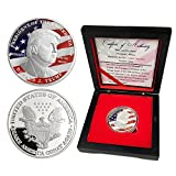 President Donald Trump 2016 Silver Challenge Coins with Gift Box