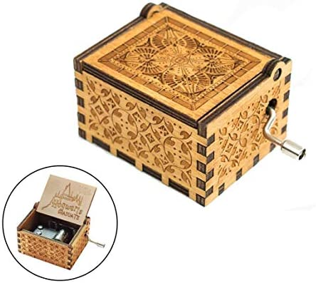 Evelure Caja de música Harry P Crank Music Boxes en Madera Antigua ...