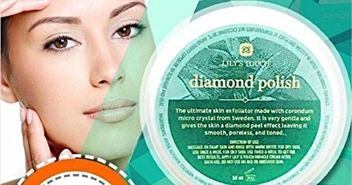 Lily's Touch Diamond Polish, Skin Rejuvenating Corundum Crystal Scrub, Skin Exfoliator Skin Brightening Scrub 50ml