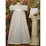 Danielle Christening Gown with Lace Trim