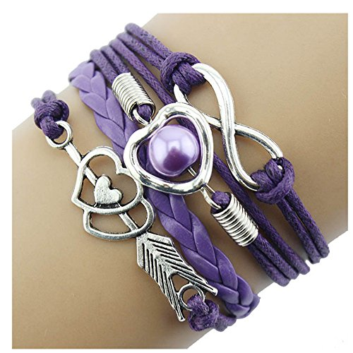 Bracelet, Doinshop Infinity Chain Cuff Jewelry Antique PU Leather Bracelet Charm - Jewelry