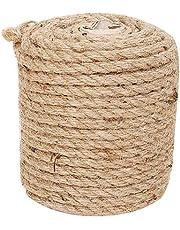 RAJRANG BRINGING RAJASTHAN TO YOU Natural Twine Strings - Handgemaakte Touw Geschikt voor Ambachten Gift Christmas Duurzame verpakking Koord voor Tuinieren Toepassing 65 ft Bruin