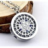 Black butler pocket watch necklace