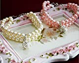 PETFAVORITES 2 Row Pearls Rhinestones Pet Cat Dog