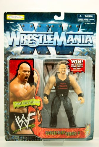 Jakks Pacific WWE WWF Wrestlemania 15 Stone Cold Steve Austin Action - Mint Wwe Wwf