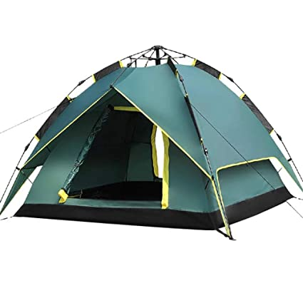 4 Person Double Layer Green Waterproof Camping Hiking Hunting Pop-Up Tent Cover