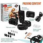 [Upgraded 2020] Dog Training Collar with Remote - Shock Collar for Dogs Range 1600 feet, Vibration Control, Rechargeable Bark E-Collar - IPX7 Waterproof for Small, Medium, Large Dogs, All Breeds 17