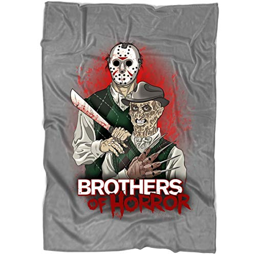 ROEBAGS Freddy and Jason Walk-Through at Halloween Horror Nights Blanket for Bed and Couch, Friday The 13th Halloween Blankets - Perfect for Layering Any Bed (Medium Blanket (60