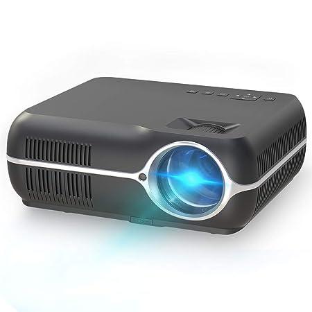QLPP Proyector, Mini proyector de Video portátil, con 4200 lúmenes ...