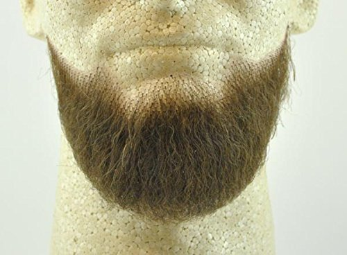 Full Chin Beard MEDIUM BROWN - 100% Human Hair - Spirit Gum Included - no. 2023 - REALISTIC! Reusable!