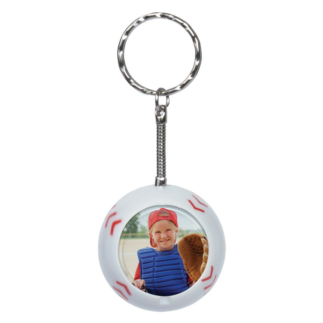 Baseball Sport Ball Photo Keychain - Case of 48
