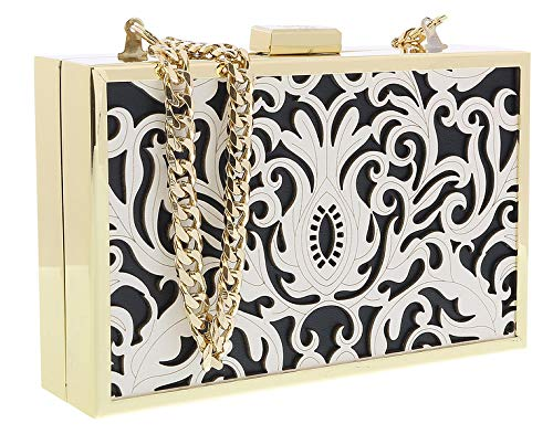 Clutch Box Black Roberto Cavalli Womens HXLPD1 B01 for White qqYtXx
