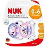 NUK Happy Days Silicone Soother, Age 0-6m, 2 Pack - Girl
