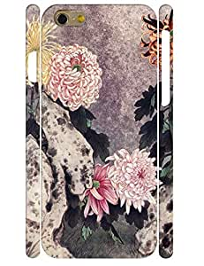 Design Charming Light Pink Flower 3D Print High Impact Phone Aegis Case for Iphone 6 4.7 Inch