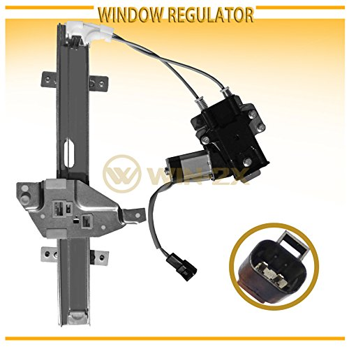 WIN-2X New 1pc Rear Passenger Right Side Power Window Regulator With Motor Assembly Fit 97-03 Pontiac Grand Prix 4-Door Sedan (Grand Prix Window Regulator Motor)