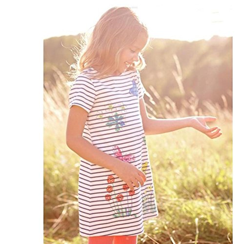 ZHUOTOP Girls' Animals Baby Pony Stripe Pony Princess Dresses ggFPwAqZ